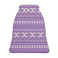 Fancy Tribal Borders Lilac Bell Ornament (2 Sides)