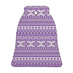 Fancy Tribal Borders Lilac Bell Ornament (2 Sides) Back