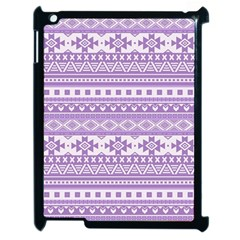 Fancy Tribal Borders Lilac Apple Ipad 2 Case (black) by ImpressiveMoments