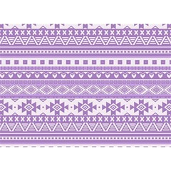Fancy Tribal Borders Lilac Birthday Cake 3d Greeting Card (7x5)  by ImpressiveMoments