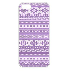 Fancy Tribal Borders Lilac Apple Iphone 5 Seamless Case (white) by ImpressiveMoments