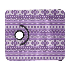 Fancy Tribal Borders Lilac Samsung Galaxy S  III Flip 360 Case by ImpressiveMoments