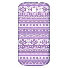 Fancy Tribal Borders Lilac Samsung Galaxy S3 S Iii Classic Hardshell Back Case by ImpressiveMoments