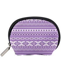 Fancy Tribal Borders Lilac Accessory Pouches (small)