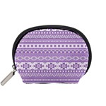 Fancy Tribal Borders Lilac Accessory Pouches (Small)  Front