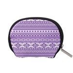 Fancy Tribal Borders Lilac Accessory Pouches (Small)  Back