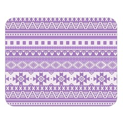 Fancy Tribal Borders Lilac Double Sided Flano Blanket (large)  by ImpressiveMoments