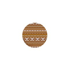 Fancy Tribal Borders Golden 1  Mini Buttons by ImpressiveMoments
