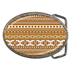 Fancy Tribal Borders Golden Belt Buckles by ImpressiveMoments