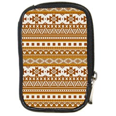 Fancy Tribal Borders Golden Compact Camera Cases by ImpressiveMoments