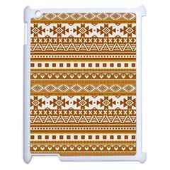 Fancy Tribal Borders Golden Apple Ipad 2 Case (white) by ImpressiveMoments