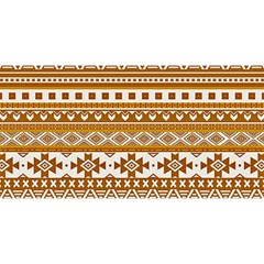 Fancy Tribal Borders Golden You Are Invited 3d Greeting Card (8x4)