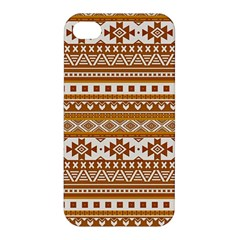 Fancy Tribal Borders Golden Apple Iphone 4/4s Hardshell Case by ImpressiveMoments