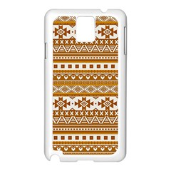 Fancy Tribal Borders Golden Samsung Galaxy Note 3 N9005 Case (white) by ImpressiveMoments