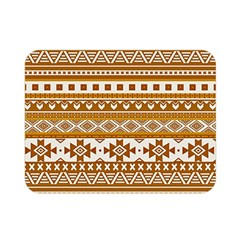 Fancy Tribal Borders Golden Double Sided Flano Blanket (mini)  by ImpressiveMoments