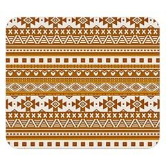 Fancy Tribal Borders Golden Double Sided Flano Blanket (small)