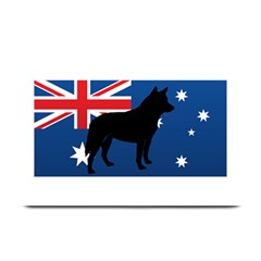 Australian Cattle Dog Silhouette on Australia Flag Plate Mats by TailWags
