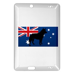 Australian Cattle Dog Silhouette On Australia Flag Kindle Fire Hd (2013) Hardshell Case by TailWags
