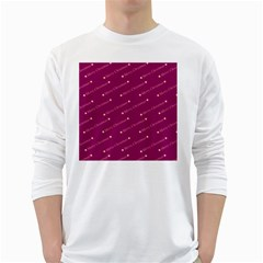 Merry Christmas,text,bordeaux White Long Sleeve T Shirts by ImpressiveMoments