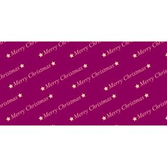 Merry Christmas,text,bordeaux You Are Invited 3d Greeting Card (8x4)  by ImpressiveMoments