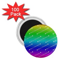 Merry Christmas,text,rainbow 1 75  Magnets (100 Pack)  by ImpressiveMoments