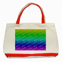 Merry Christmas,text,rainbow Classic Tote Bag (red)  by ImpressiveMoments