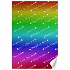 Merry Christmas,text,rainbow Canvas 20  X 30   by ImpressiveMoments