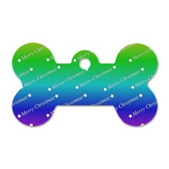 Merry Christmas,text,rainbow Dog Tag Bone (one Side) by ImpressiveMoments