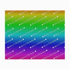 Merry Christmas,text,rainbow Small Glasses Cloth (2 Side) by ImpressiveMoments