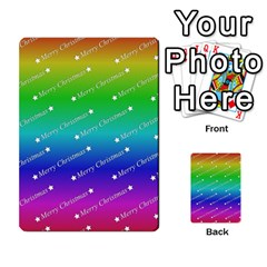 Merry Christmas,text,rainbow Multi Purpose Cards (rectangle)  by ImpressiveMoments