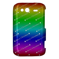 Merry Christmas,text,rainbow HTC Wildfire S A510e Hardshell Case by ImpressiveMoments