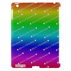 Merry Christmas,text,rainbow Apple Ipad 3/4 Hardshell Case (compatible With Smart Cover) by ImpressiveMoments