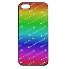 Merry Christmas,text,rainbow Apple Iphone 5 Seamless Case (black) by ImpressiveMoments