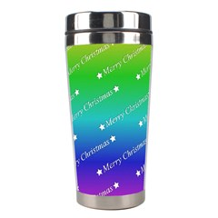 Merry Christmas,text,rainbow Stainless Steel Travel Tumblers by ImpressiveMoments