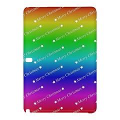 Merry Christmas,text,rainbow Samsung Galaxy Tab Pro 10 1 Hardshell Case