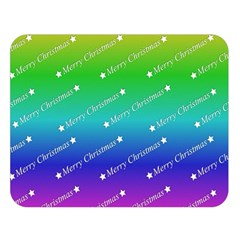Merry Christmas,text,rainbow Double Sided Flano Blanket (large)  by ImpressiveMoments