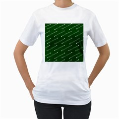 Merry Christmas,text,green Women s T Shirt (white) (two Sided) by ImpressiveMoments