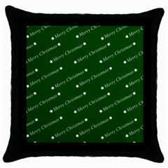 Merry Christmas,text,green Throw Pillow Cases (black) by ImpressiveMoments