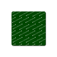 Merry Christmas,text,green Square Magnet by ImpressiveMoments