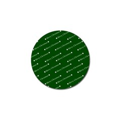 Merry Christmas,text,green Golf Ball Marker (4 Pack) by ImpressiveMoments
