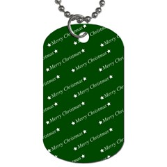 Merry Christmas,text,green Dog Tag (two Sides) by ImpressiveMoments