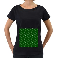 Merry Christmas,text,green Women s Loose Fit T Shirt (black)