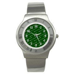 Merry Christmas,text,green Stainless Steel Watches by ImpressiveMoments
