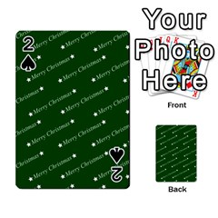 Merry Christmas,text,green Playing Cards 54 Designs  by ImpressiveMoments