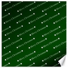 Merry Christmas,text,green Canvas 12  X 12   by ImpressiveMoments