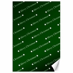 Merry Christmas,text,green Canvas 20  X 30   by ImpressiveMoments