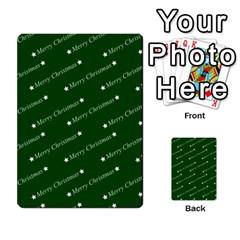 Merry Christmas,text,green Multi Purpose Cards (rectangle)