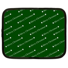 Merry Christmas,text,green Netbook Case (large) by ImpressiveMoments