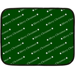 Merry Christmas,text,green Fleece Blanket (mini) by ImpressiveMoments