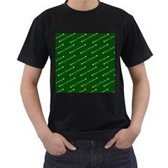 Merry Christmas,text,green Men s T Shirt (black) by ImpressiveMoments